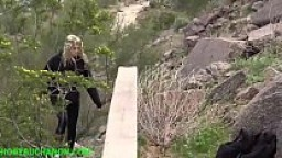 Pretty Teen Blonde Attacked & Roughly Facefucked While Hiking