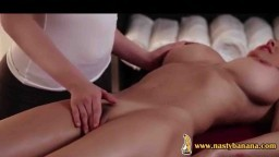 Desirable lesbian cougar getting her wet cunt licked by a sexy masseuse