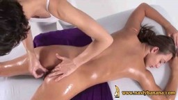 Oiled pussy massage