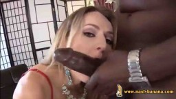 Heavy duty dick in interracial fuck action